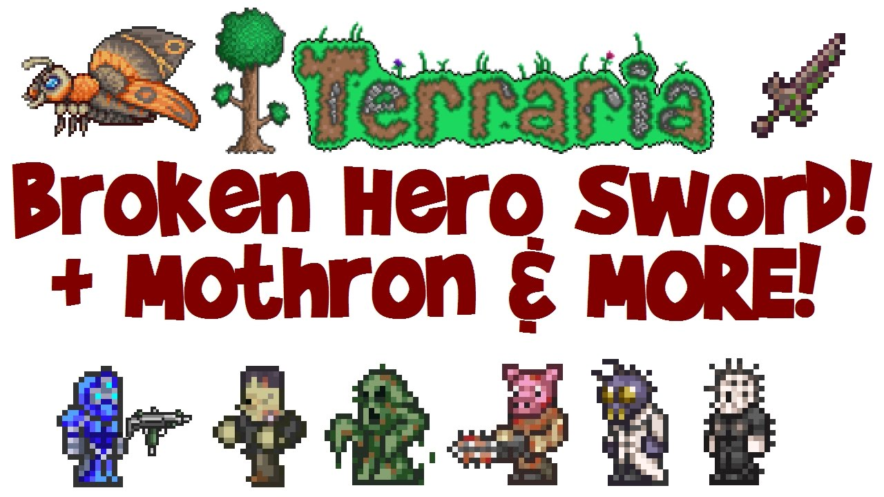 How To Get Broken Hero Sword Terraria 1 3 Solar Eclipse Drops Mothron Guide How To Spawn Event Youtube I had two solar eclipses and i only got the eye spring and nothing else. how to get broken hero sword terraria 1 3 solar eclipse drops mothron guide how to spawn event