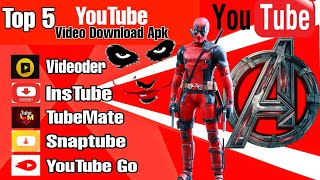 TOP 5 YouTube  Video Downloader|Movie Download|Download from video|New Apk YouTube video download