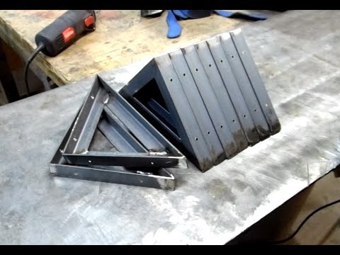Welded Metal Shelf Brackets Youtube