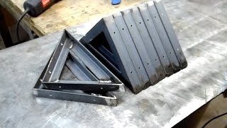 Welded metal shelf brackets