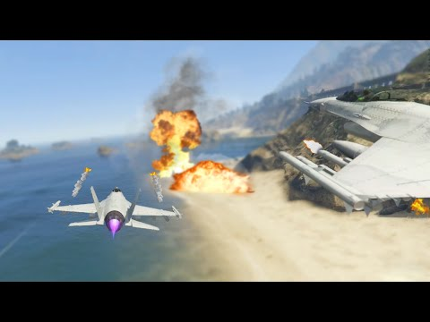 INTENSE FORT ZANCUDO JET CAPTURE MISSION (GTA 5 Funny Moments)