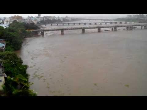 Tapi River Surat, Gujarat, India - Overflow View July 2013, Surat, Gujarat, India