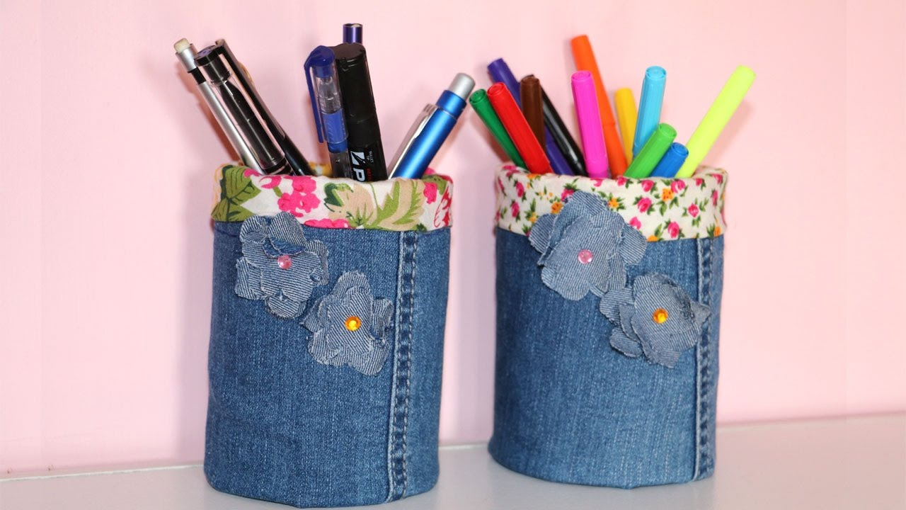 Homemade Pencil Holders How To Make Your Own Pen Holder Pencil Holder Diy Recycled Crafts Idea Pen Holder From Tin Can