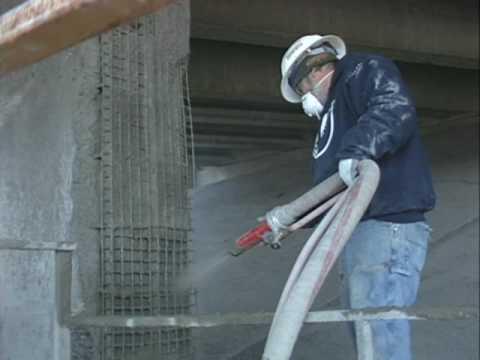 Bridge Repair Gunite Shotcrete Concrete Repair Cyclone Gunite Machine Demonstration Youtube