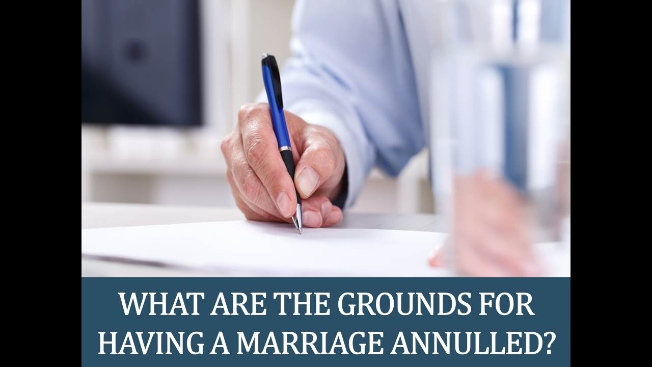 grounds for catholic annulment of marriage