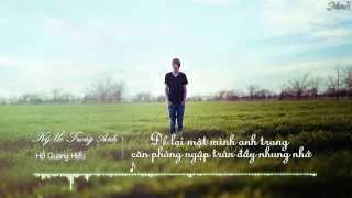 Ký Ức Trong Anh - Hồ Quang Hiếu || Lyrics