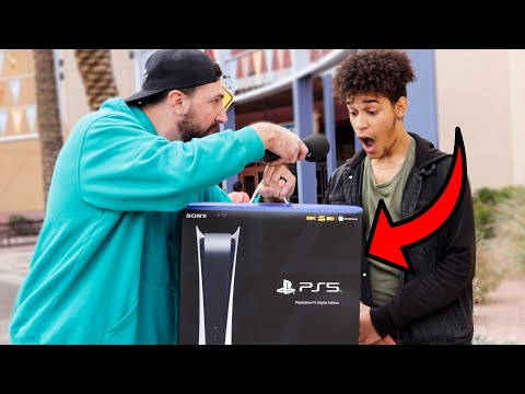 Giving Strangers The Playstation 5 For Answering This Question Correctly..