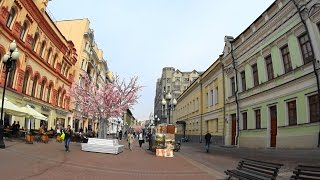 Old Arbat Street, Moscow, Walking the Arbat on May 05 2017