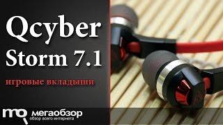 Обзор Qcyber Storm 7.1. Наушники вкладыши