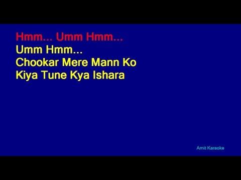 Chookar Mere Mann Ko - Kishore Kumar Hindi Full Karaoke with Lyrics