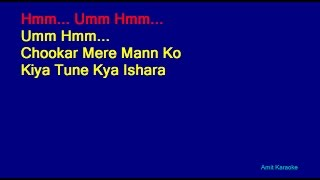 Chookar Mere Mann Ko - Kishore Kumar Hindi Full Karaoke with Lyrics