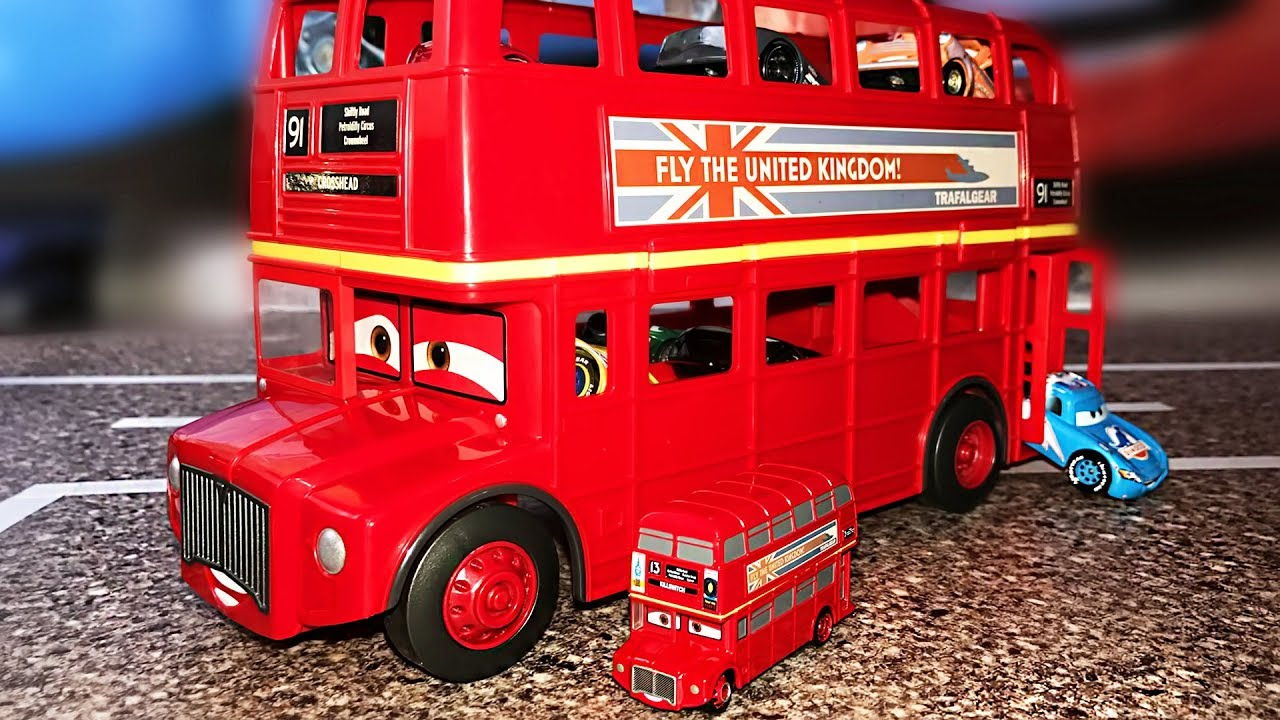 cars 3 lightning mcqueen talking bus transporter play car toy videos for kids. Black Bedroom Furniture Sets. Home Design Ideas
