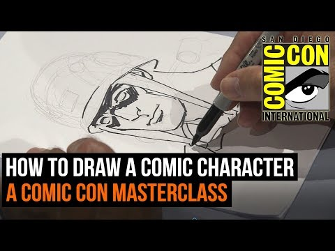 How to draw a comic book character - A Comic Con Masterclass