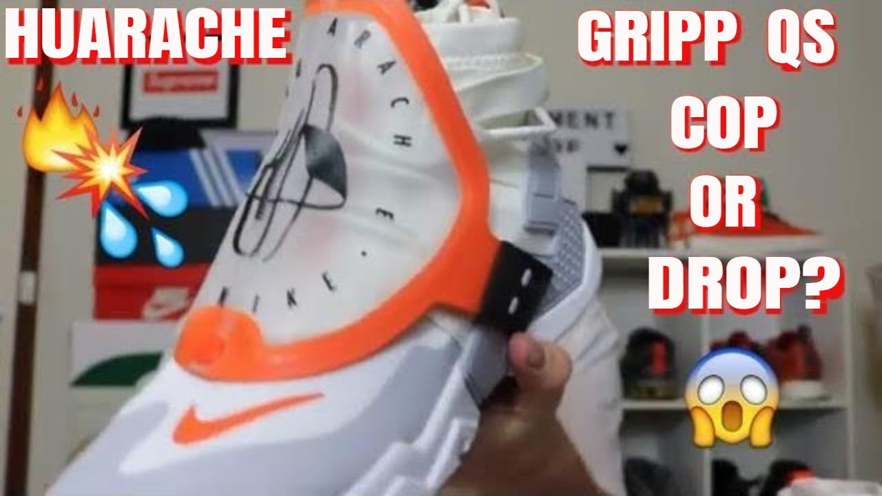 d7eee1e39892 nike air huarache gripp on foot review - YouTube