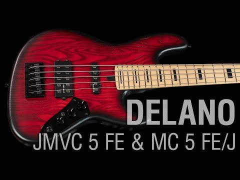 Delano JMVC 5 FE + MC5 FE/J serial/parallel neck-bridge pu