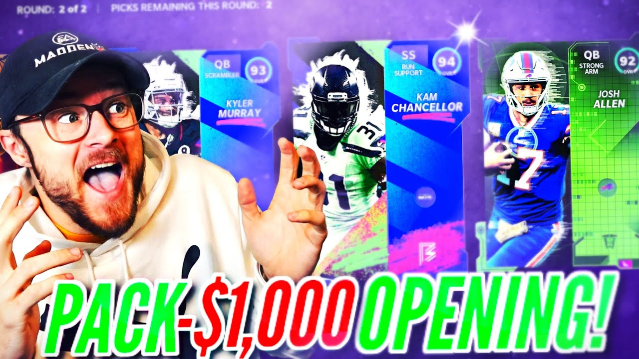 THE CRAZIEST $1000 PACK OPENING IN MADDEN 21!