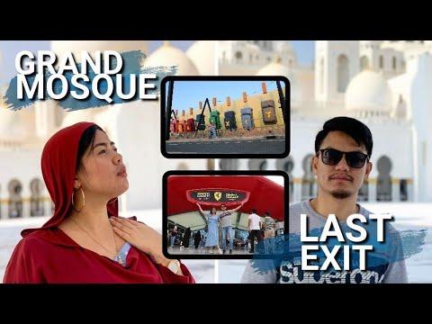 Abu Dhabi Travel VLOG | Grand Mosque – Yas Island – Ferrari World – Last Exit
