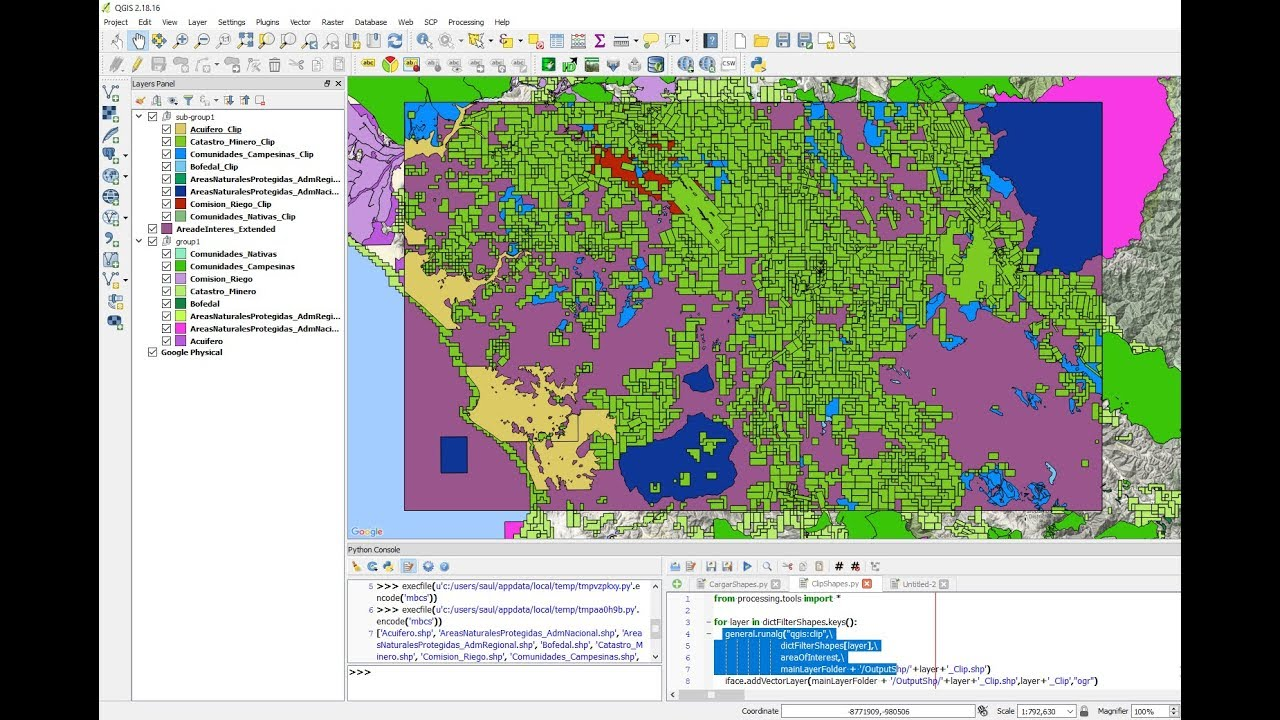 Clip Multiple Layers in QGIS with PyQGIS - Tutorial — Hatari