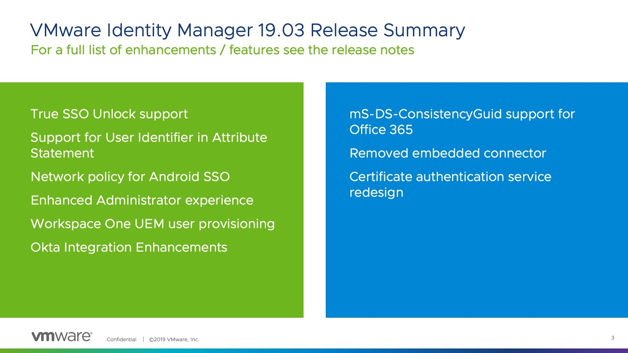 What's New in VMware Identity Manager 19 03 | VMware