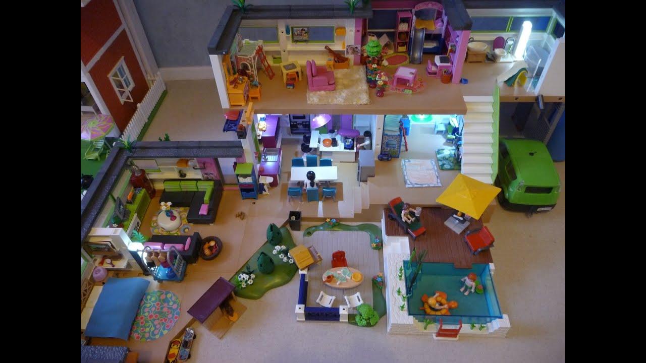playmobil home tour visite de la maison moderne