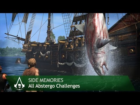 Assassin's Creed 4: Black Flag - Side Memories - All Abstergo Challenges