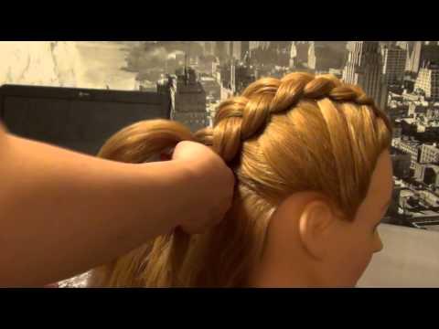 #1 Создание прически Французская коса наоборот (вывернутая)
