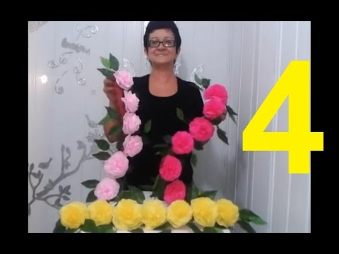Aula 4 Como Fazer Arranjo Com Flores De Papel Crepom Parte