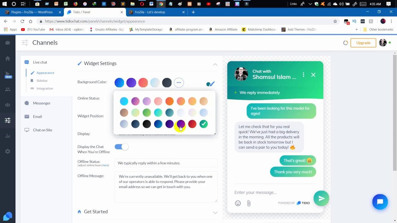 How To Add Live Chat Bot In Wordpress? ( Wordpress website )