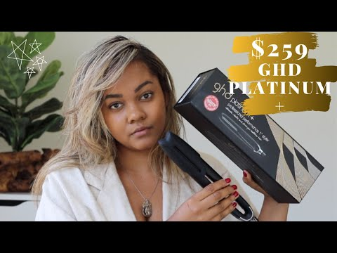 GHD Platinum Plus Flat Iron Straighteners on Natural Curly Hair | Curly to Straight
