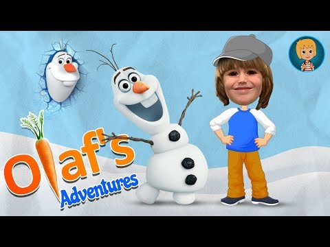 Olaf Frozen Adventure Saves Anna Birthday Cake - Olaf the Snowman Level 2 (Gertit ToysReview)