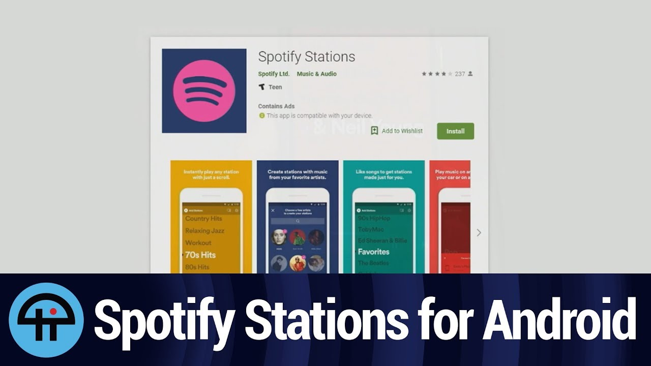 Spotify Stations for Android