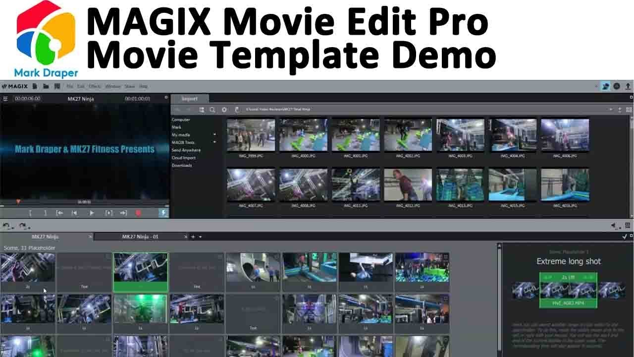 magix movie edit pro templates magix movie edit pro movie template demo youtube