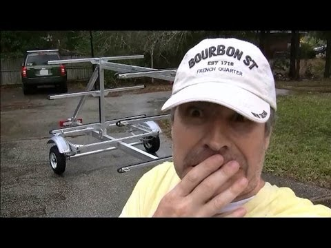 How to Assemble Trailex SUT-450-M6 Paddle Board Kayak Trailer