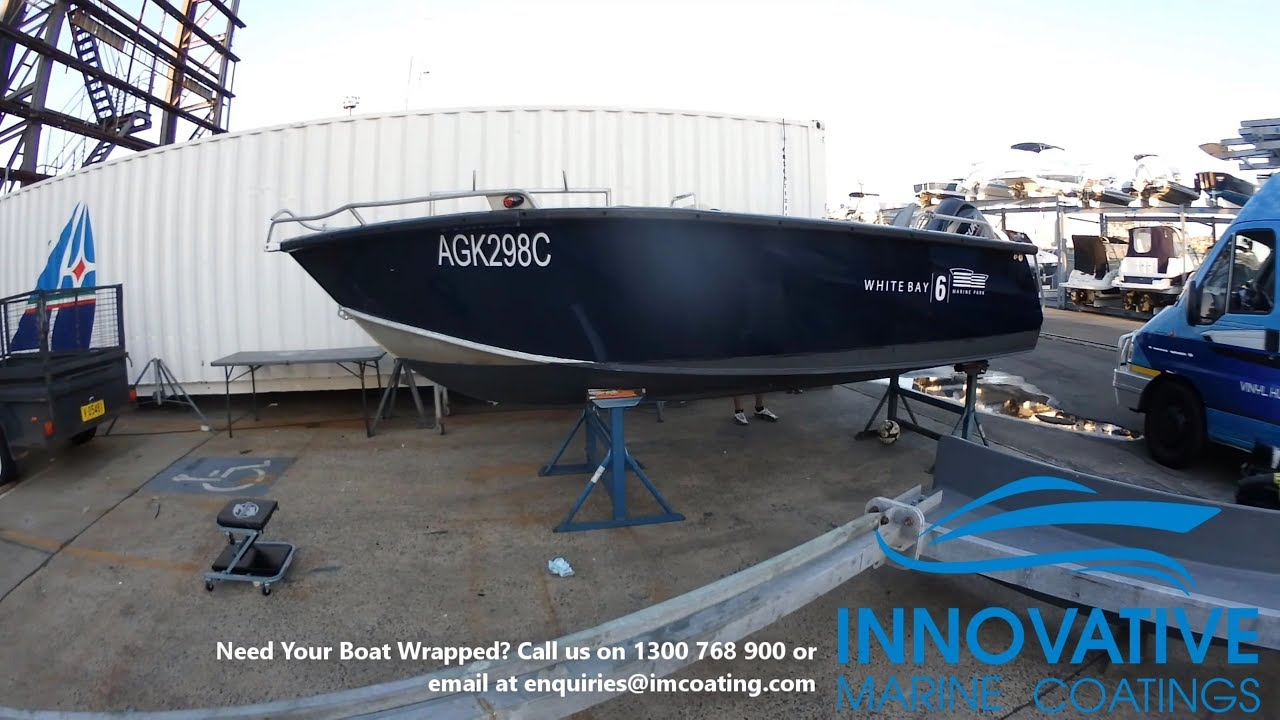 Vinyl Boat Wrap and decals on an Aluminium Tinny Boat