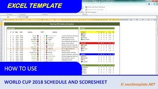 World Cup 2018 Schedule and Scoresheet