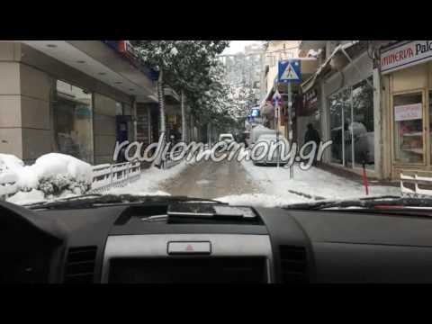 Χιόνια στην Λαμία 2017