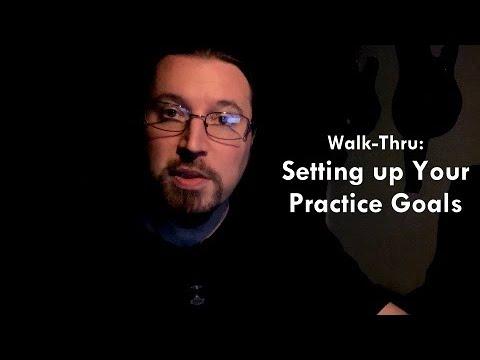 Practice Goals Setup — WoodsheddingChallenge | ShredMentor