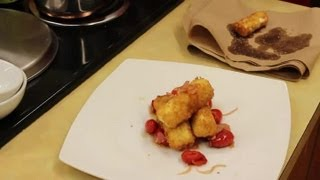 Fried Goat Cheese In Tomato Tapas : Love For Goat Cheese