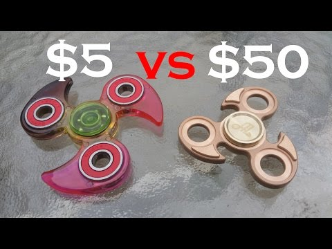 $5 VS $50 Fidget Spinner.  Walgreens VS Alquar Fidget Spinner