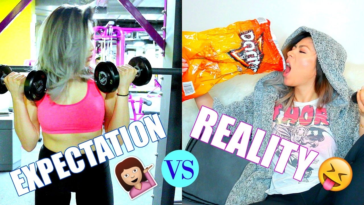 EXPECTATIONS VS. REALITY | New Years Resolution Parody ...