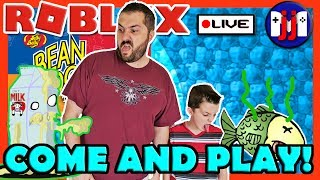 GAMING WITH DAD!! :: ROBLOX and Bean Boozled! Come and play on this live stream!