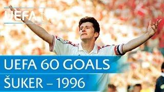 Davor Šuker v Denmark, 1996: 60 Great UEFA Goals