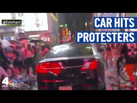 New Video Of Car That Hit Times Square Protesters | NBC New York