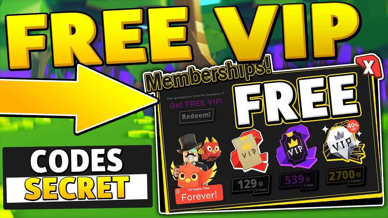All Free Lifetime Vip Codes In Pet Simulator 2 Roblox Youtube