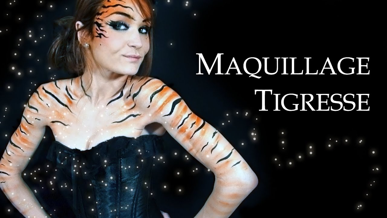 Maquillage Et Costume Tigresse Halloween Youtube