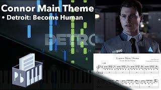 Connor Main Theme - Detroit: Become Human [Piano Tutorial] (Synthesia) // Pianobin + Sheets/Midi