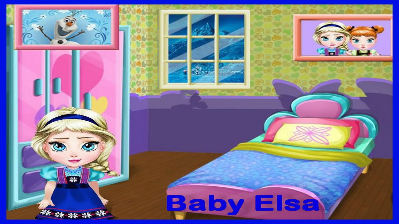 Baby princess games baby elsa room decoration video play for Baby rooms decoration games