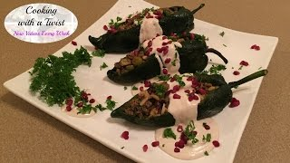 Chiles en Nogada - Stuffed Poblano Pepper Recipe - Mexican Stuffed Peppers - Mexican Cuisine