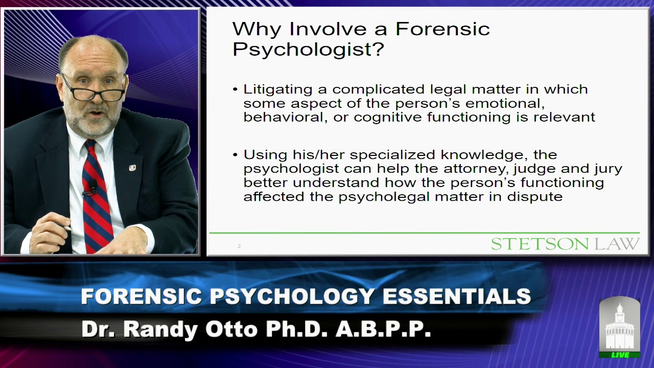 Forensic Psychology Essentials Youtube