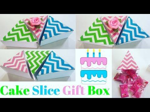 DIY Cake Slice Box | Chocolate Box Handmade |  How to make a paper cake slice